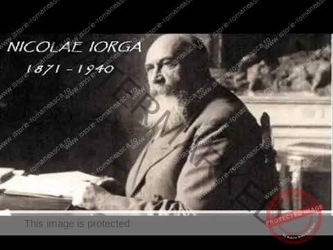 Istoricul Nicolae Iorga ține un discurs despre civilizație și tranziție