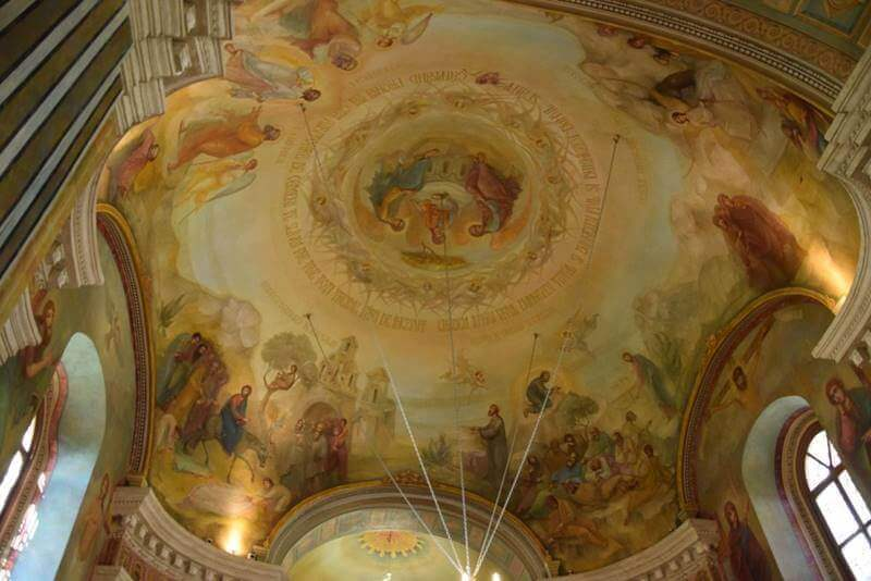 Pictură interioară de la Biserica Banu din Iași