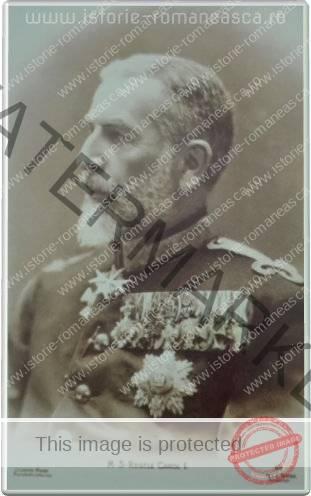 Carte postala ilustrata - Regele Carol I - 1913