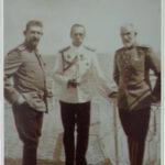 Carte postala ilustrata - Regele Carol I, Principele Ferdinand si Tarul Nicolae - 1914