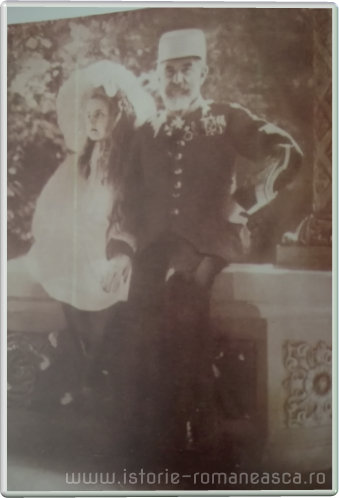 Carte postala ilustrata - Regele Carol I si Principesa Elisabeta la Sinaia - 1902