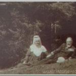 Carte postala ilustrata - Regele Carol si Regina Elisabeta la Sinaia - 1900
