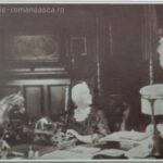 Carte postala ilustrata - Regina Elisabeta in cabinetul de lucru de la Peles - 1913
