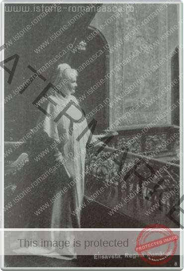 Carte postala ilustrata - Regina Elisabeta la Peles - 1912