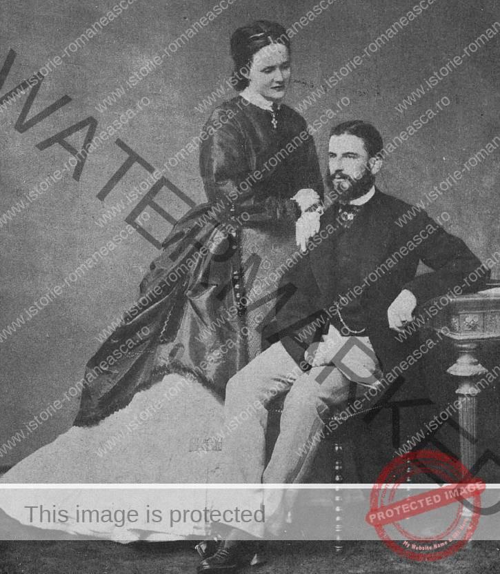 Carol I și viitoarea sa mireasă, Elisabeta
