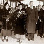 Regina Maria împreună cu fiica sa Ileana și arhiducele Anton, la Paris, în 1938