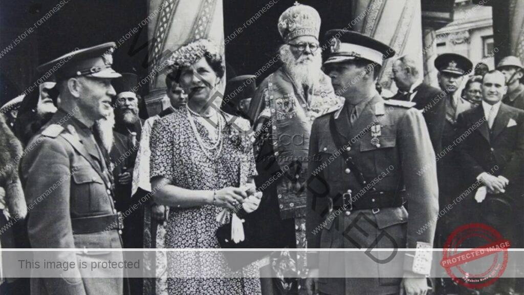 Mareșalul Ion Antonescu, Regina-Mamă Elena și Regele Mihai I