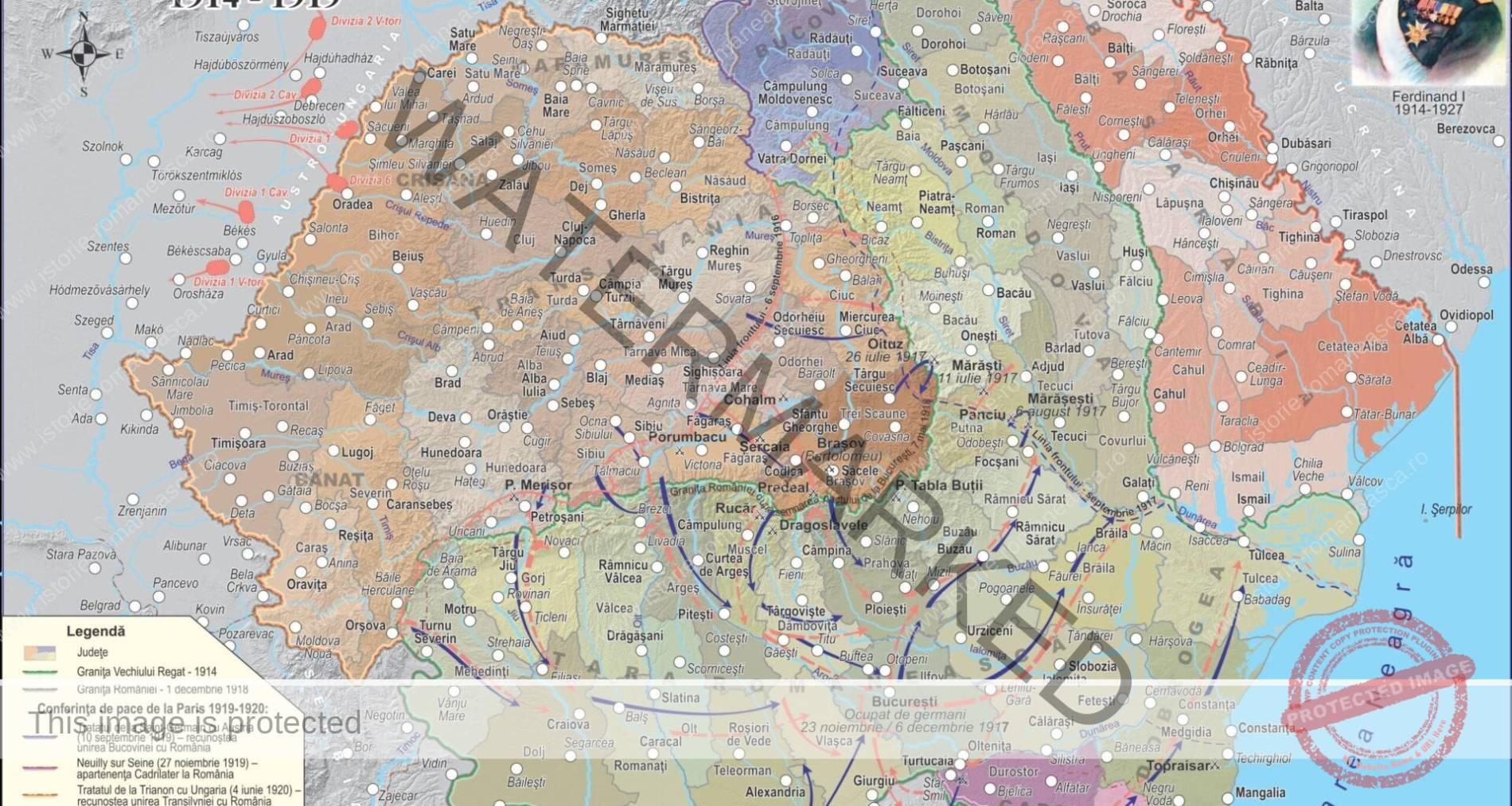 Evenimente politice și militare petrecute în spațiul românesc între anii 1914-1919