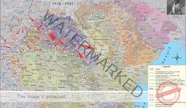 Evenimente politice și militare petrecute în spațiul românesc între anii 1938-1945