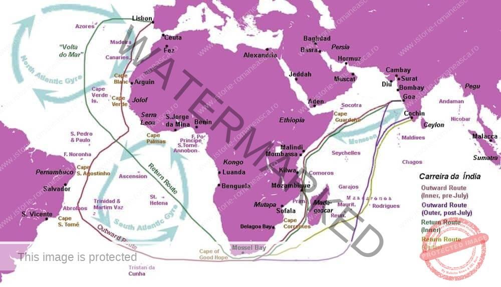 Marile descoperiri ale europenilor: drumuri și teritorii; consecințe asupra vieții oamenilor (clasa a VI-a)