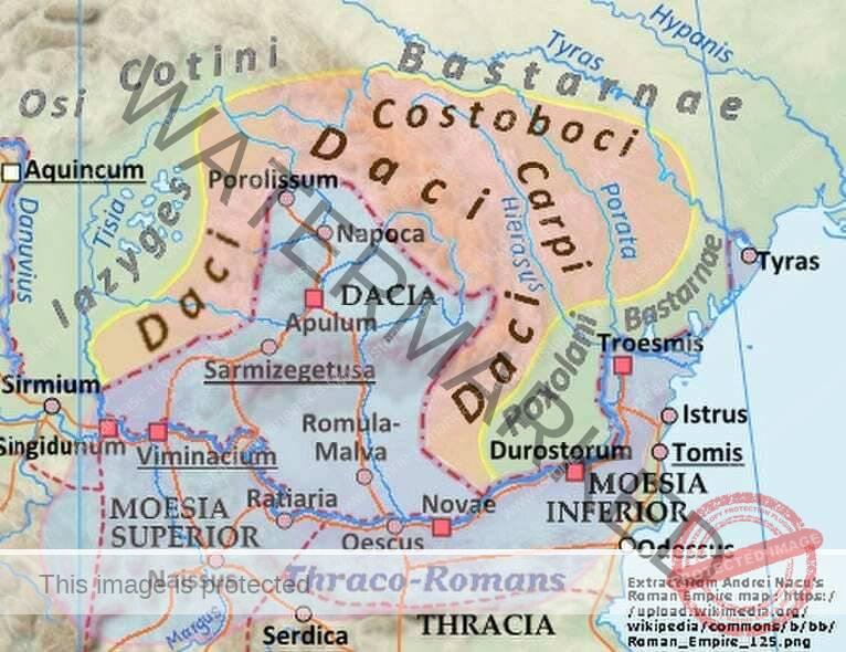 Geograful din Ravenna despre orașele din Dacia și Moesia