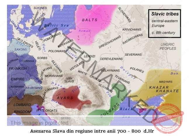 Așezarea slavilor la sudul Dunării. Romanitatea orientală (clasa a VIII-a)