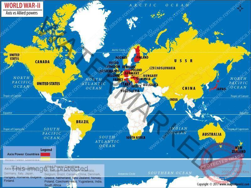 Al Doilea Război Mondial: alianțe militare și fronturile de luptă (1939-1945) (clasa a VII-a)